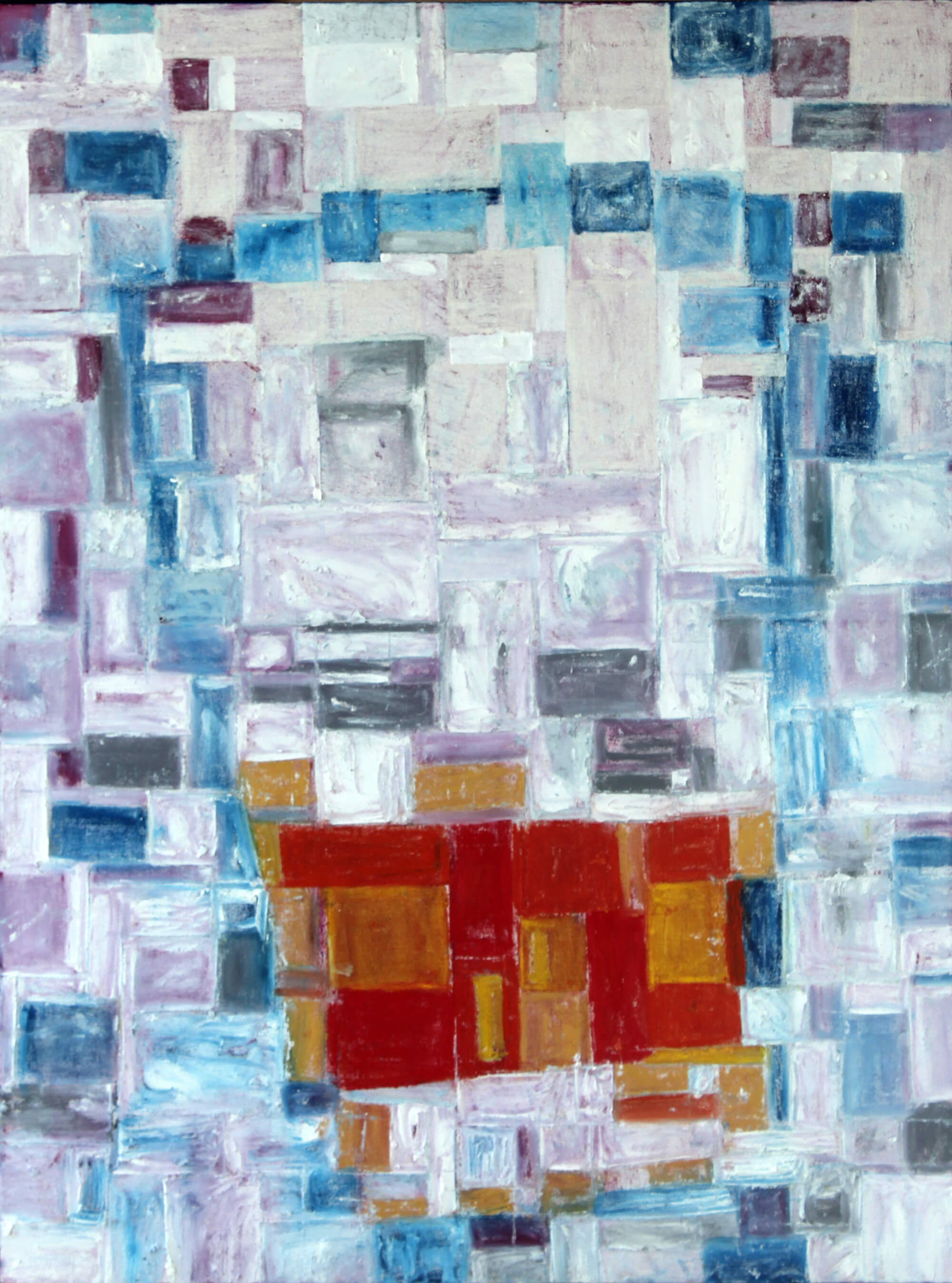 Abstract oilbar painting of glass of whisky by Ludwig Medina