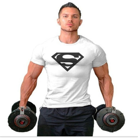 Superman Absorb Sweat Muscle T-Shirt