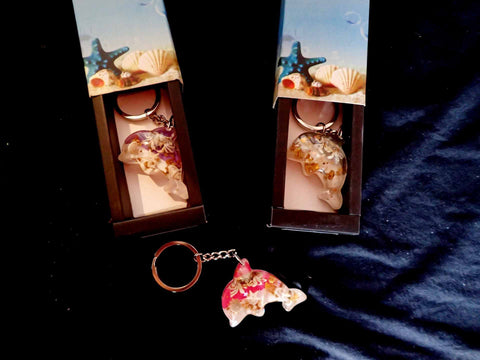 Keyring - Seaside Dolphin Shape