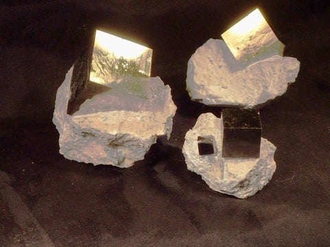 Pyrite Cubes In Matrix