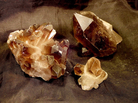Smoky Quartz Clusters