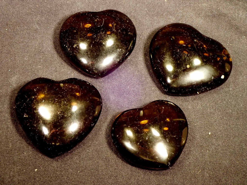 Hearts - Smoky Glass