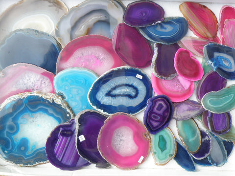 Agate Slices, Mixed Colours Or Specify