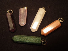 Pendants Six Sided Gemstone