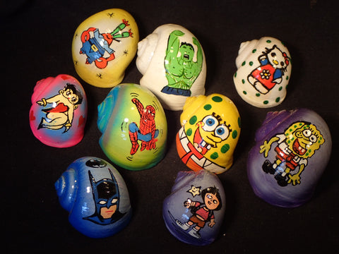 Hermit Crab Shells - Cartoon Characters