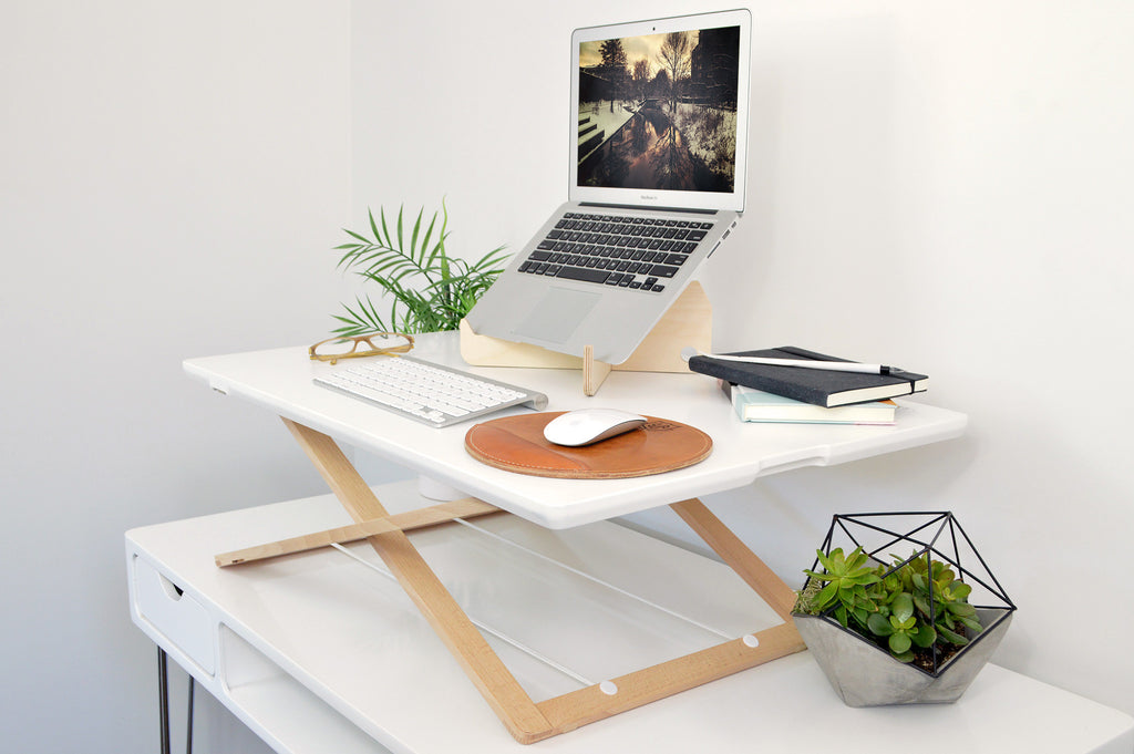 Standing Desk Converter Relieve Back Pain Lorell Sit To