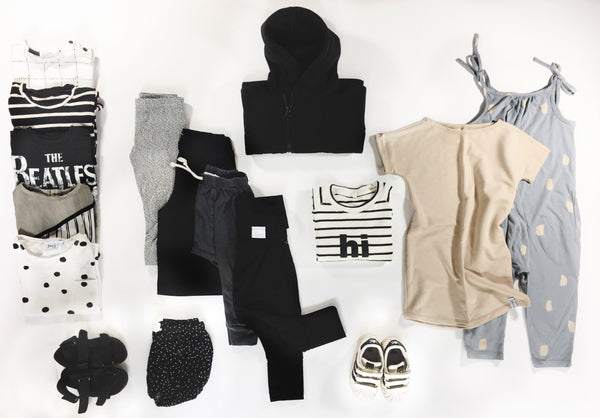 Toddler kids capsule wardrobe