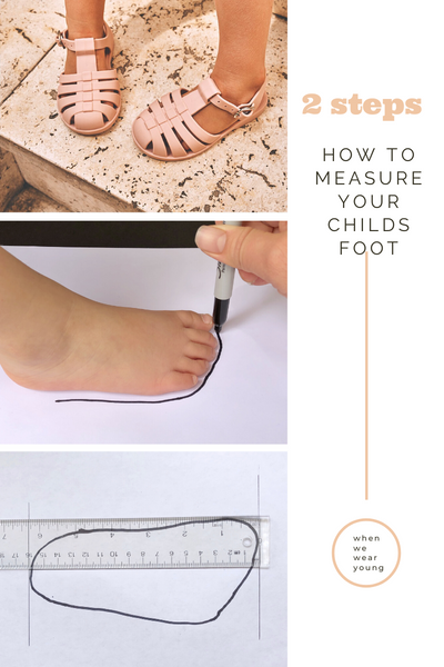 how to measure your child's shoe size