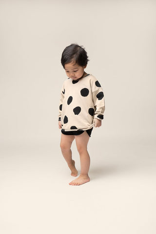 sem label dots track sweater