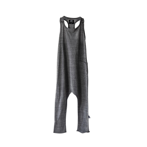 Be Mi Los Angeles, baby T-Romper Grey - when we wear young