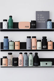 Design Letters, baby Thermo/Insulated Bottle Small, HOT & COOL Black - when we wear young