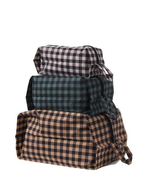 baggu, baby Gingham 3D Zip Set - when we wear young