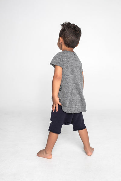 Mila Bex, baby Raw Edge Grey T-Shirt - when we wear young