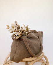 Brown Chunky Teddy Mom Bag