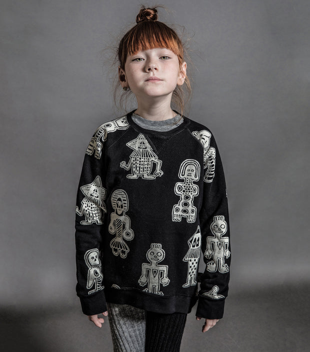 nununu, baby Black Tribal Dancers Sweatshirt - when we wear young