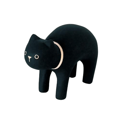 Black Cat Polepole Animal - T-Lab Toys -when we wear young