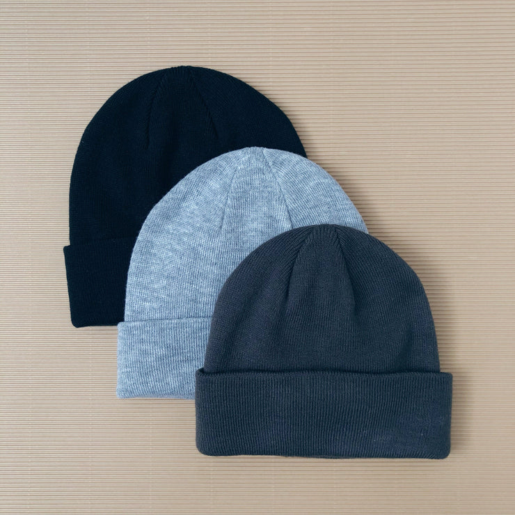 when we wear young, baby Black Knit Beanie - when we wear young