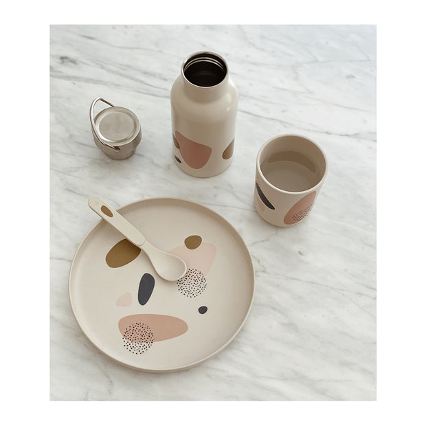 Bubbly Sandy Bamboo Tableware Set