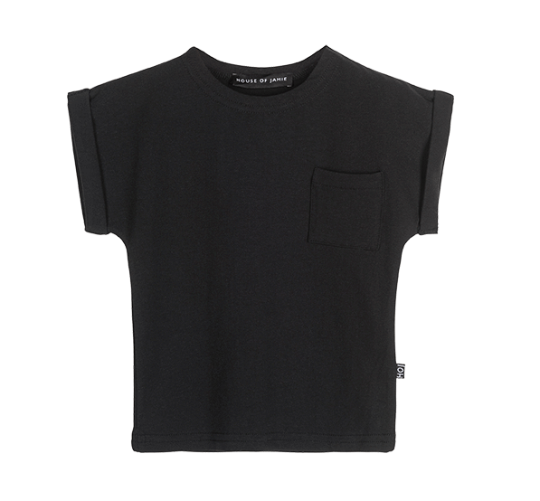 House of Jamie, baby Black Batwing Tee - when we wear young
