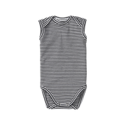 Mingo, baby Stripe Sleeveless Onesie - when we wear young