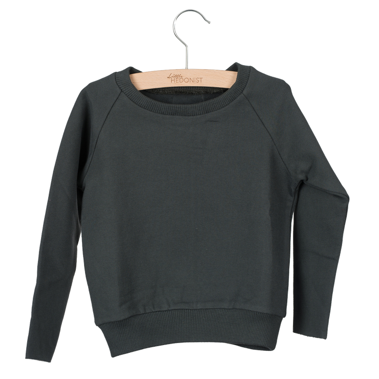Little Hedonist, baby Faded Black Sweatshirt - when we wear young