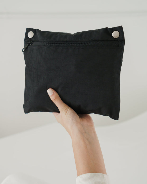 baggu, baby Black Travel Cloud Bag - when we wear young