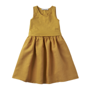 Mingo, baby Spruce Yellow Dress - when we wear young