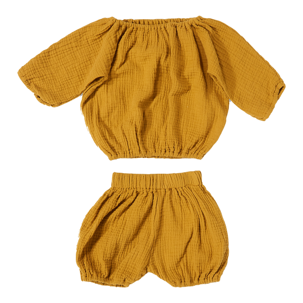 daily brat, baby Golden Yellow Bloomer Set - when we wear young