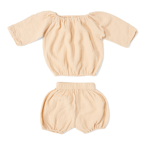 daily brat, baby Ivory Bloomer Set - when we wear young