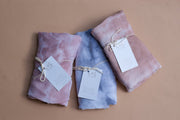 Blush Bamboo Tie Dye Cotton Swaddle