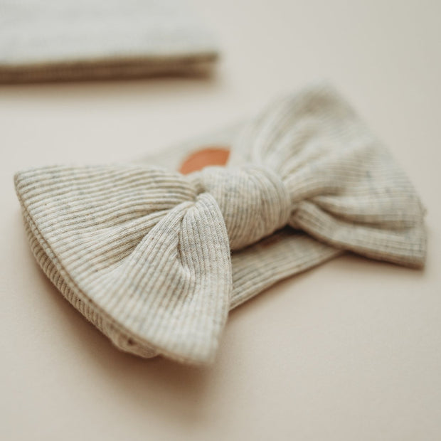 Oatmeal Bow Headband