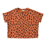 daily brat, baby Oversized Terracotta Leopard Tee - when we wear young