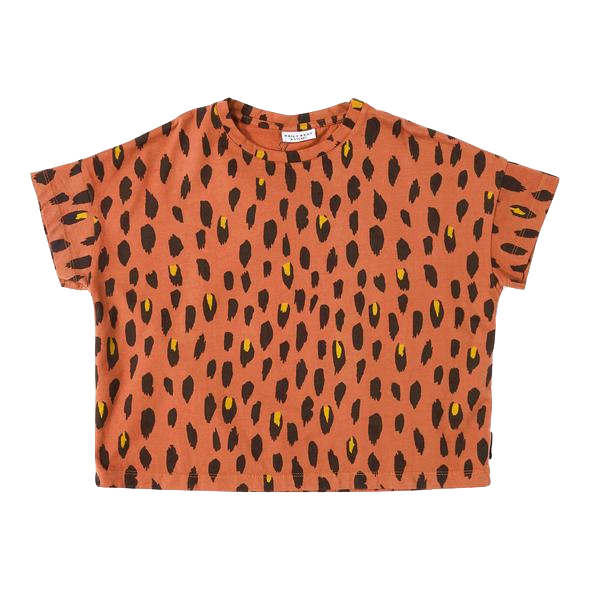 daily brat, baby Oversized Terracotta Leopard Tee-LAST SIZE! 4-5y - when we wear young