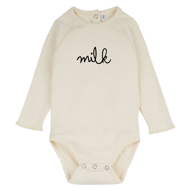 Organic Zoo, baby Natural Milk Bodysuit - when we wear young