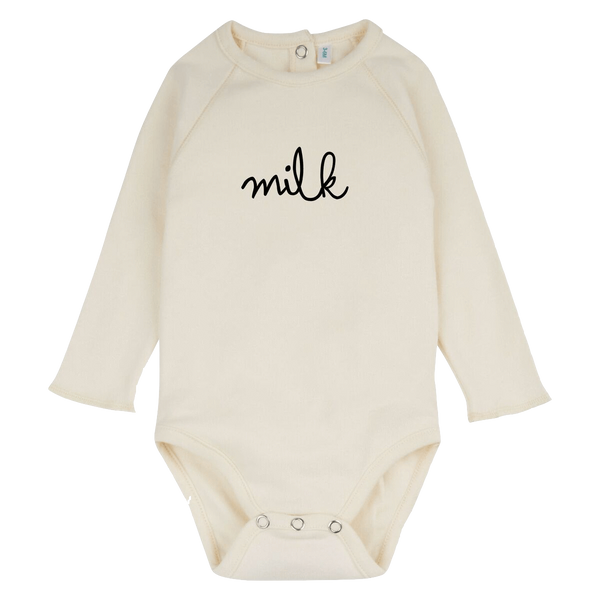 Natural Milk Bodysuit - Organic Zoo -when we wear young