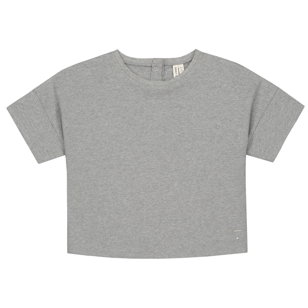 Grey Boxy Tee - Gray Label -when we wear young