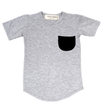 Os & Oakes, baby Grey Pocket Tee - when we wear young