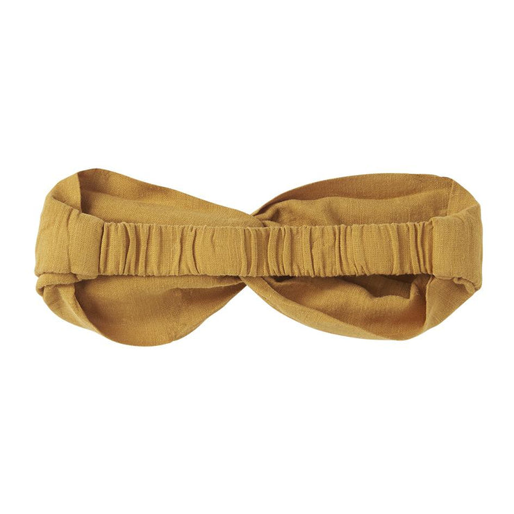 Mingo, baby Spruce Yellow Twist Headband - when we wear young