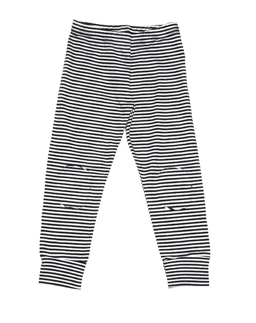 Mingo, baby Stripe Knee Patch Leggings - when we wear young