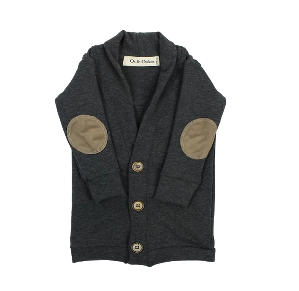 Os & Oakes, baby Charcoal Bamboo Cardigan - when we wear young