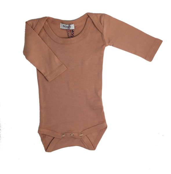 Roux, baby Peach L/S Onesie - when we wear young