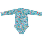 goldie + ace, baby Garden Long Sleeve Zip Up Swimsuit - when we wear young