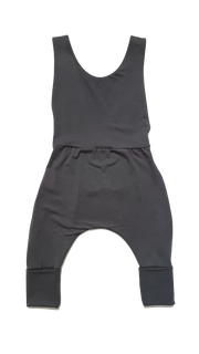 Kid's Stuff, baby Slate Grey Grow Overalls - when we wear young