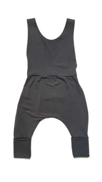 Slate Grey Grow Overalls - Kid's Stuff -when we wear young