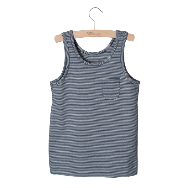 Navy Raw Edge Tank