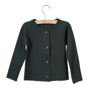 Little Hedonist, baby Faded Black Cardigan - when we wear young