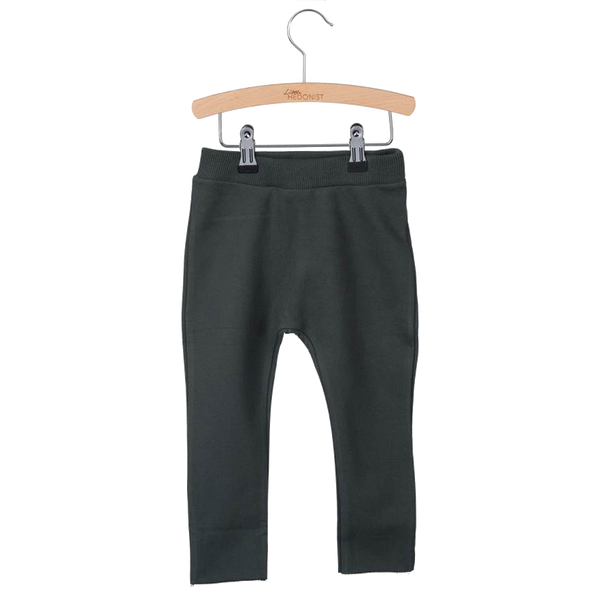 Little Hedonist, baby Faded Black Straight Sweatpants - when we wear young