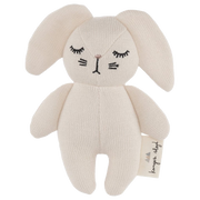 konges slojd, baby Mini Bunny Soft Toy Rattle - when we wear young
