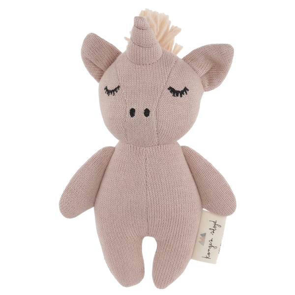 konges slojd, baby Mini Unicorn Soft Toy Rattle - when we wear young