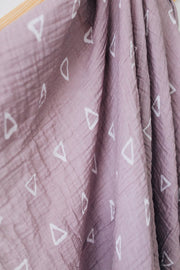mebie baby, baby Blush Triangles Muslin Swaddle - when we wear young